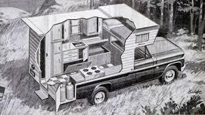 Pickup Truck Camper Cutaway, 1967 – Truck Camper HQ