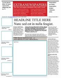 Newspaper First Page Template Free Newspaper Template Pack For Word Perfect For School