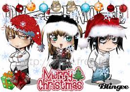 Resultado de imagem para feliz natal anime
