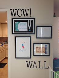 endorsed photo wall display ideas kid art and awards kids award
