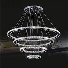meerosee crystal chandeliers modern led ceiling lights fixtures pendant lighting dining room chandelier contemporary adjule stainless steel cable 4