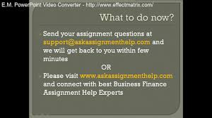 business finance assignment help business finance homework help  business finance assignment help business finance homework help video dailymotion