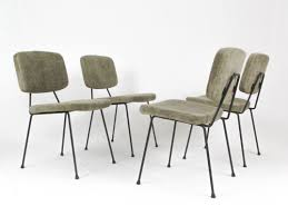 set of 4 cm 196 dinner chairs by pierre paulin for thonet 1950s