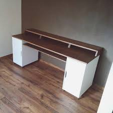 My first woodworking project - a hardwood home studio/office desk. bonus  drafting table