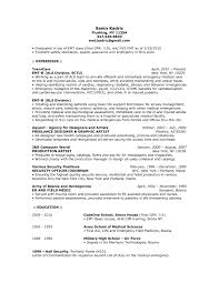 Emergency Medical Technician Resume Template Emt Resume Enom Warb Co Shalomhouseus 3