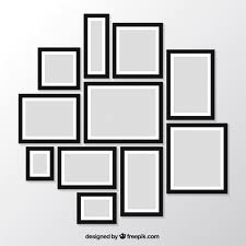 modern picture frames. Pack Of Modern Photo Frames On The Wall Free Vector Picture