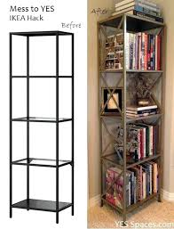 Glass shelves bookcase Tesso Gold Uncommonsense Gold Metal Bookcase Bookshelf Acme Furniture And Glass Black With