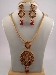antique jewelry set with white ruby and emerald color stones 16 necklace set gold oxidized finish us 60 item aj bp 11 sold