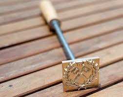 woodworking branding iron. custom wood branding iron with wooden handle woodworking c