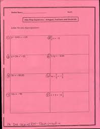 1 step equations w rn