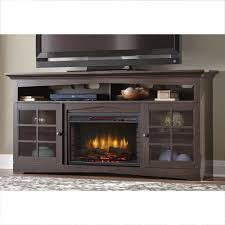 home decorators collection avondale grove 70 in tv stand infrared electric fireplace in espresso 365 187 48 y the home depot