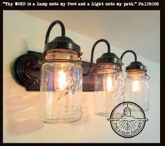 mason jars lighting. mason jar bathroom light vintage quart trio the lamp goods jars lighting h
