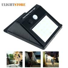 solar power flood light outdoor powered led motion activated sensor wall waterproof sen