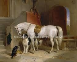large art panel canvas canvas paintings realistic landscape quadros ta horse white horse painting abstract figure