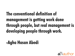 The Conventional Definition Of Management Is Quote Extraordinary Definition Of Quote