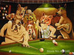 painting for dogs playing pool ii by cassius marcellus coolidge canvas high quality hand painted in painting calligraphy from home garden on