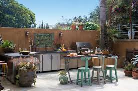 Tropical Outdoor Kitchen Designs Simple Design