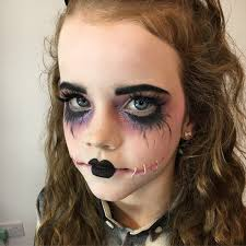 some last minute makeup for my niece yesterday she is only 9 but always wants to go as something dead so this year she went as a dead doll