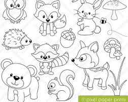 Coloring Pages Forest Animals Forest Animals Coloring Pages Color Bros