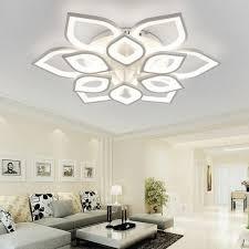 new acrylic modern led ceiling chandelier lights for living room bedroom home dec led modern fixture