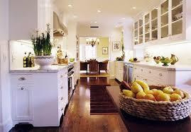 White Country Galley Kitchen 57422 Texasismyhomeus