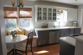 Light Grey Cabinets In Kitchen Light Grey Kitchen Cabinets Stainless Steel Two Handle Faucet