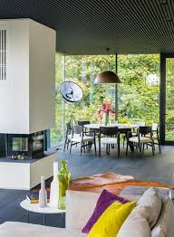 round table napa for a contemporary dining room with a colorful vaseadeira house by
