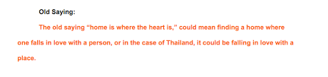 ag and intro on emaze if i chose to use the idiom to start the essay about thailand i could use the concept of falling in love to tie the essay to together