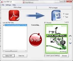 convert pdf to word doents first