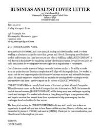 Sample Cover Letter Business Business Analyst Cover Letter Sample Download Technical Business
