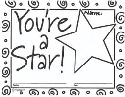 Star Student Certificates Youre A Star Free Printable Blank Certificates