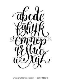 brush lettering alphabet. black and white hand lettering alphabet design, handwritten brush script modern calligraphy cursive font vector o