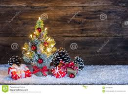 Christmas Tree Cone With Lights Christmas Gifts Under The Christmas Tree Stock Photo Image