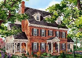 brick house plans.  Plans Classic Brick Colonial Home  80696PM  Architectural Designs House Plans Intended H