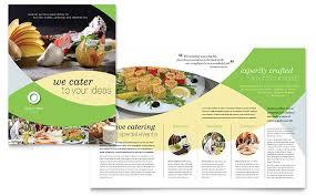 Advertisement Brochure Stunning Food Catering Brochure Template Design