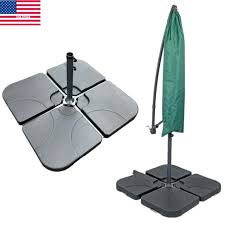 offset umbrella base new patio 4 piece cantilever offset umbrella base stand best choice s offset