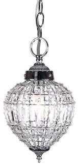 crystal pendant lighting. 1 Light Beaded Crystal Mini Pendant In Chrome Finish With Clear Pendantlighting Lighting N