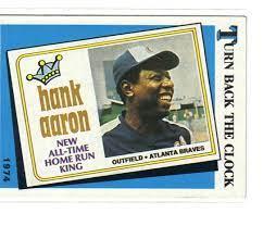 Turn Back The Clock Hank Aaron Baseball ...