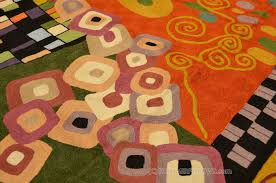 klimt wool rugs art nouveau green rust c