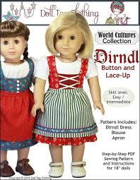 Dirndl Pattern Best Doll Tag Clothing Dirndl Doll Clothes Pattern 48 Inch American Girl
