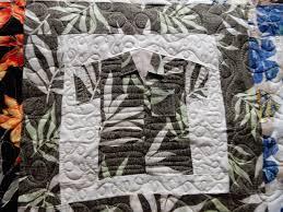 Hawaiian shirt quilt...   Machine quilting inspirations ... & Hawaiian shirt quilt. Adamdwight.com