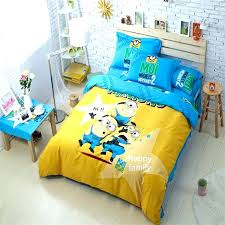 minion bedding set full deable me twin forter