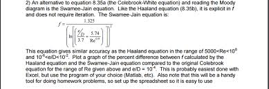 2 an alternative to equation 8 35a the colebrook white equation and