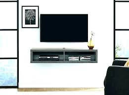 wall mounted tv where to put cable box wall box wall mount with shelf for cable