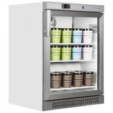 tefcold uf200vg 120 litre glass door display freezer