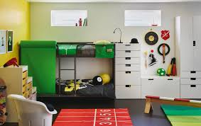 ikea kids bedroom ideas. A Children\u0027s Room With Grey Bunk Bed And White Storage Combined Colourful Bedlinen Ikea Kids Bedroom Ideas