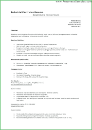 Sample Resume Electrical Technician Electrical Technician Resume