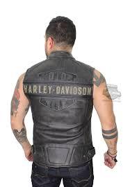 harley davidson mens passing link trademark b s embroidered charcoal vest