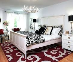 red bedroom rugs black and white bedroom designs with red rug awesome black and white bedroom