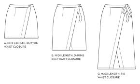 Wrap Skirt Pattern Enchanting Nita Wrap Skirt PDF Pattern Sew DIY